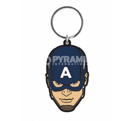 Porte-clés Caoutchouc Bleu Avengers Captain America