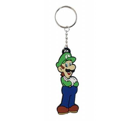 Porte-clés caoutchouc Luigi 8 cm Nintendo