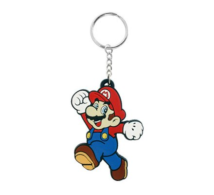 Porte-clés caoutchouc Super Mario 7 cm Nintendo