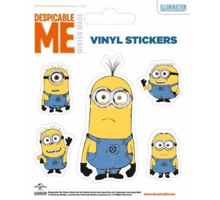 Pack de 5 Stickers MInion Tim et ses Amis Moi Moche et Mechant