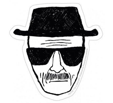 Sticker vinyle Heisenberg noir et blanc Breaking Bad