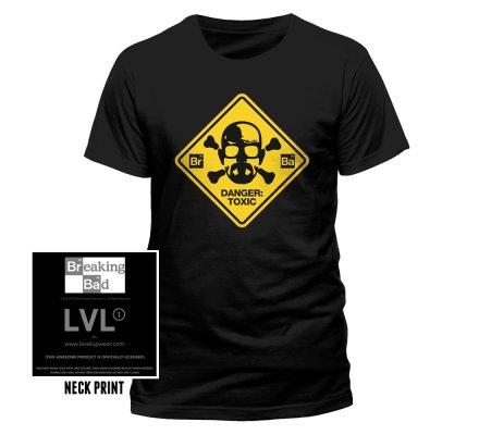 Tee-Shirt Noir Danger Toxic Breaking Bad