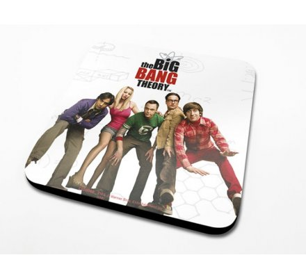 Sous-Verre Cast 10 x 10cm Big Bang Theory