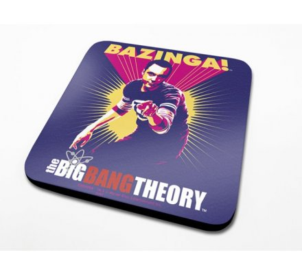 Sous-Verre Violet Bazinga 10 x 10cm Big Bang Theory