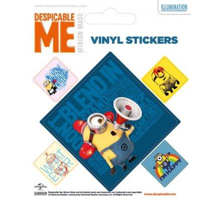 Pack de 5 Stickers Minion Stuart Alarme Moi Moche et Mechant