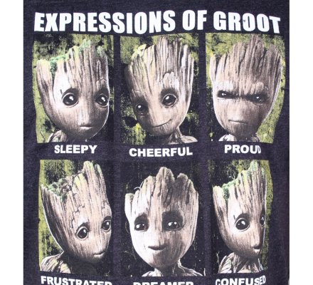 T-Shirt Expressions of Groot Gardiens de la Galaxie