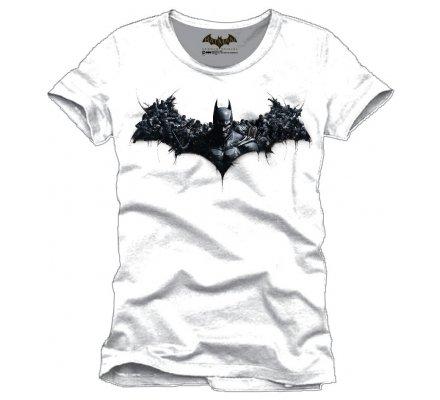 Tee-Shirt Blanc Arkham Origins Combat Bat Batman