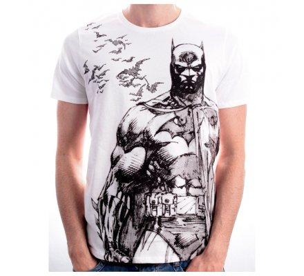 Tee Shirt Blanc Bat Fly Batman