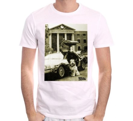 Tee-Shirt blanc Einstein Retour Vers le Futur
