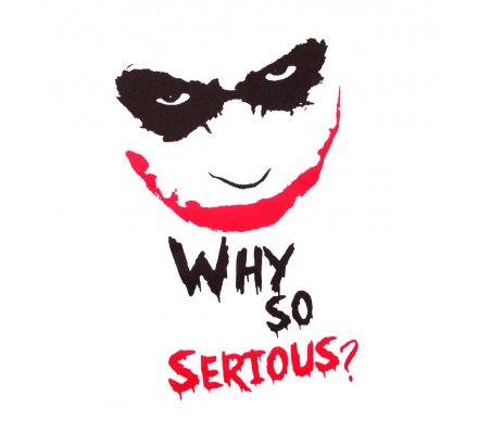 Tee Shirt Blanc Joker Why So Serious Batman