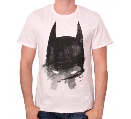 Tee Shirt Blanc Masque Peint Batman