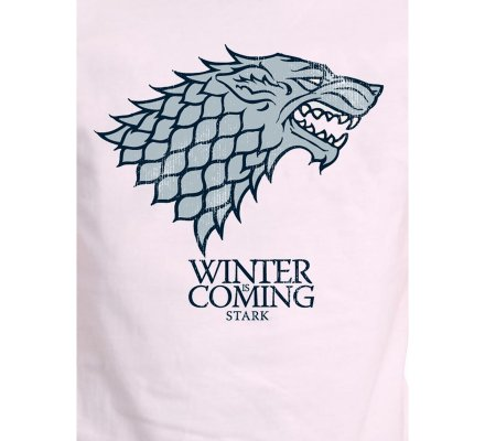 Tee-Shirt Blanc Winter is Coming Game of Thrones