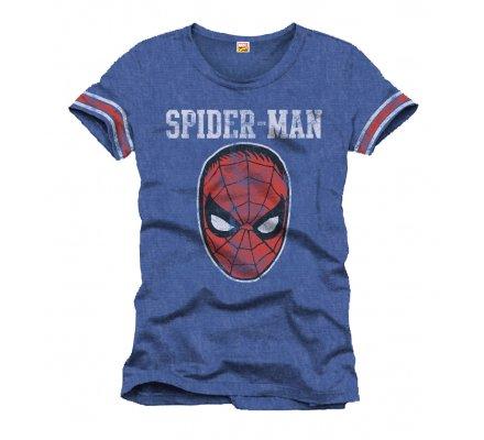Tee-Shirt Bleu Masque Spiderman
