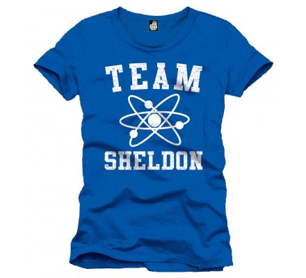 Tee-Shirt Bleu Team Sheldon The Big Bang Theory