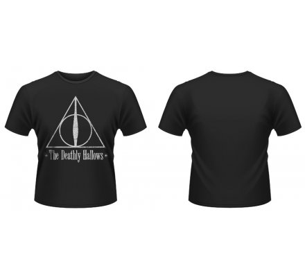Tee-Shirt Noir Deathly Hallows Harry Potter