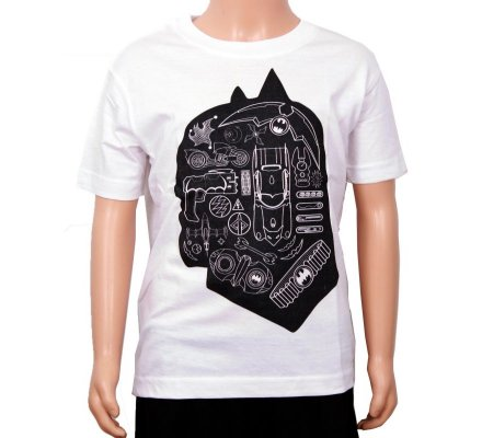 Tee Shirt Enfant Blanc Silhouhette Batman