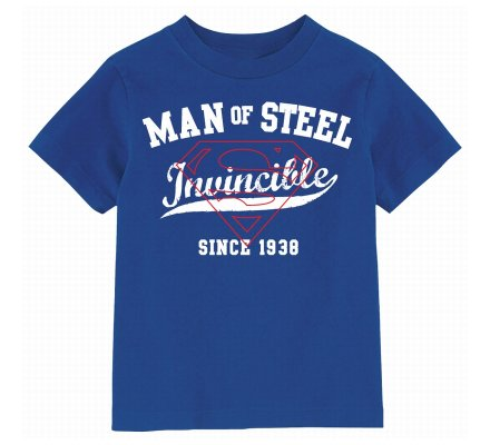 Tee Shirt Enfant Bleu Invincible Man Of Steel Superman