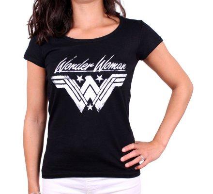 Tee-Shirt Femme Grunge Wonder Woman