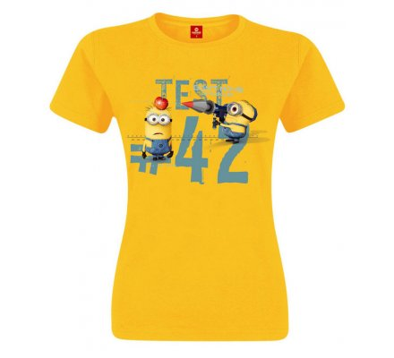 Tee-Shirt Femme Jaune Minion Test 42 Moi Moche et Méchant