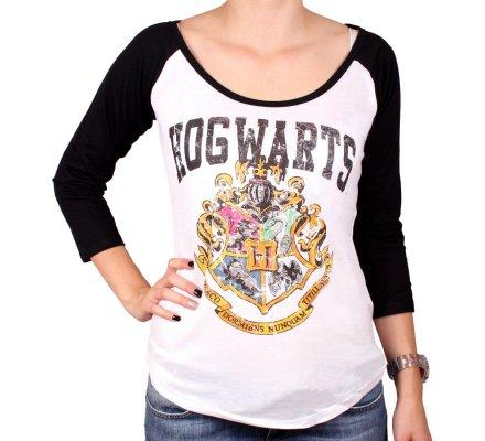 Tee-shirt Femme Manches Longues Poudlard Harry Potter