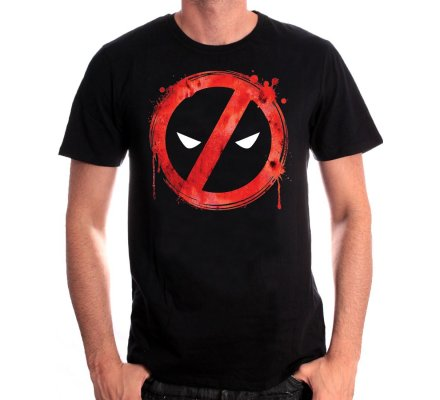 Tee-Shirt Forbiden Splash Head Deadpool