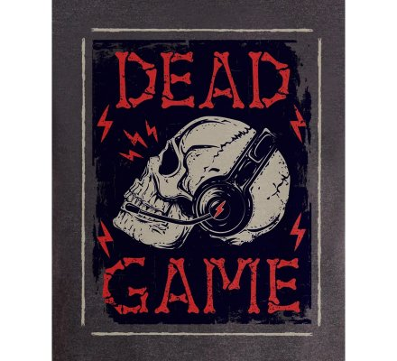 Tee-Shirt Gris Dead Game Geek