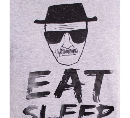 Tee-Shirt Gris Eat Sleep Cook Breaking Bad