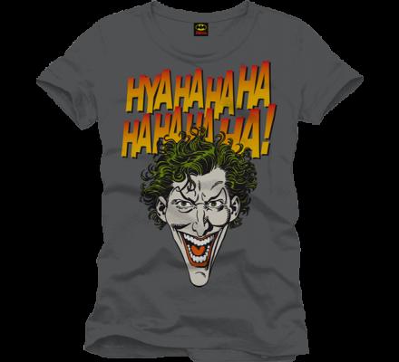 Tee-Shirt Gris Joker Face Haha Batman