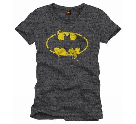 Tee-Shirt Gris Logo Grunge Batman
