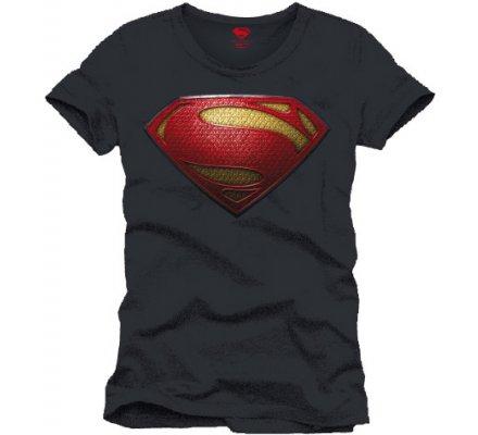 Tee-Shirt Gris Logo Man of Steel Superman