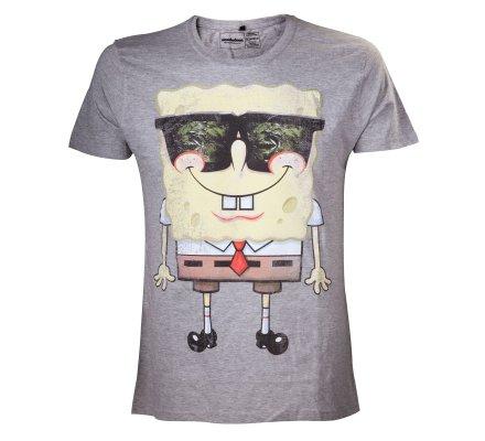 Tee-Shirt Gris Lunettes de Soleil Bob l'éponge