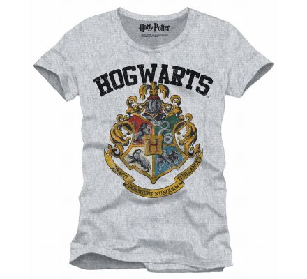 Tee-Shirt Gris Poudlard Harry Potter