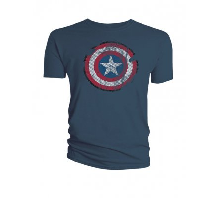 Tee-Shirt Gris Shield Captain America
