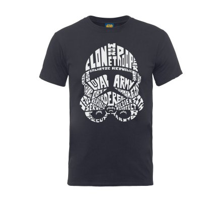 Tee-Shirt Gris Trooper Text Head Star Wars