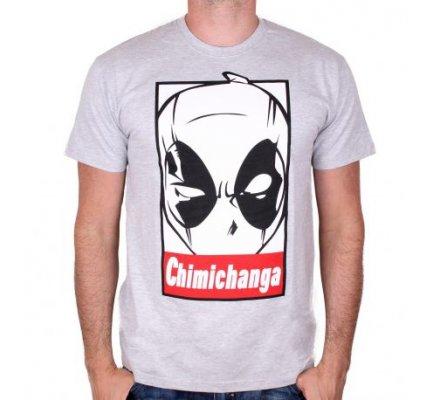 Tee-Shirt homme gris Chimichanga Deadpool