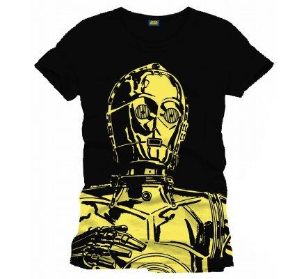 Tee-Shirt Noir Big C3PO Star Wars