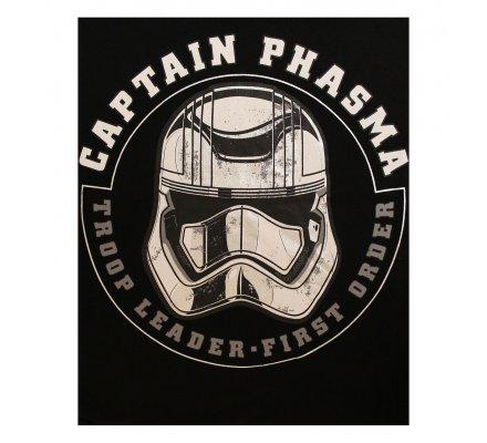 Tee-Shirt Noir Captain Phasma Helmet Star Wars