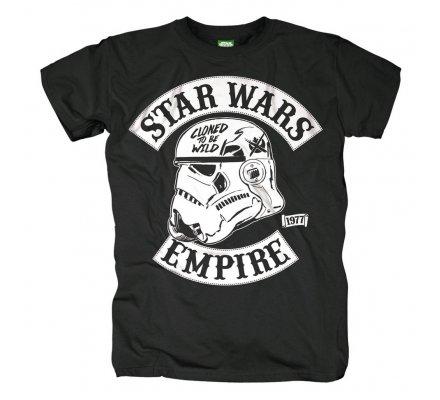 Tee-Shirt Noir Cloned To Be Wild Star Wars