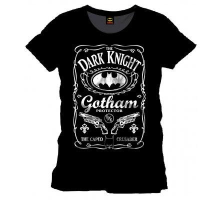 Tee-Shirt Noir Gotham Bottle Batman