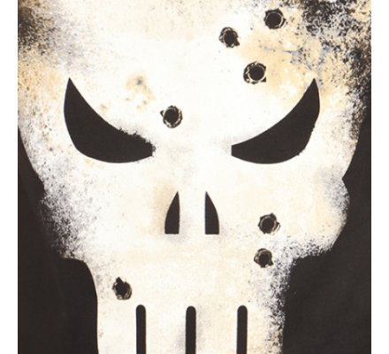 Tee-Shirt Noir Gunshot Skull Punisher