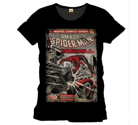 Tee-Shirt Noir Hammerhead Spiderman