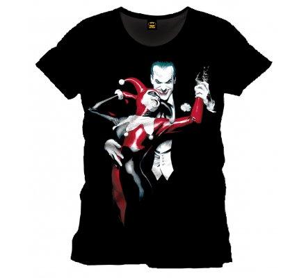 Tee-Shirt Noir Harley Quinn et Joker Batman