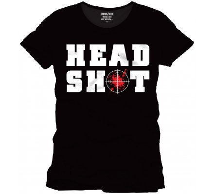 Tee-Shirt Noir Head Shot Geek