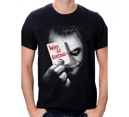 Tee Shirt Noir Joker Why So Serious Batman