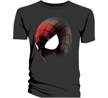 Tee-Shirt Noir Masque The Amazing Spiderman