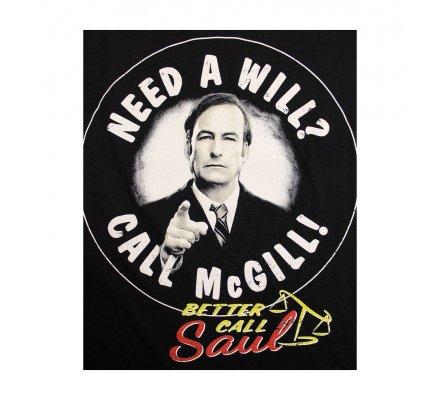 Tee-Shirt Noir Need a Will Call McGill Better Call Saul