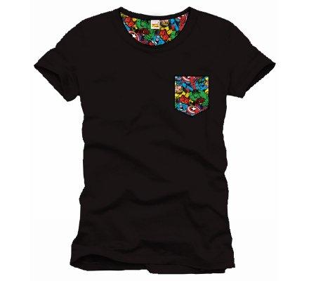 Tee-Shirt Noir Pocket Marvel