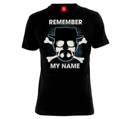 Tee-Shirt Noir Remember My Name Breaking Bad