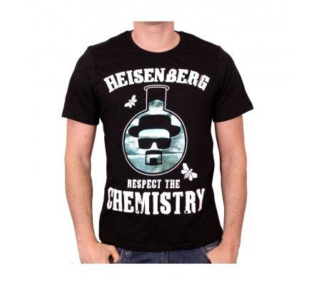 Tee-Shirt Noir Respect The Chemistry Flask Breaking Bad