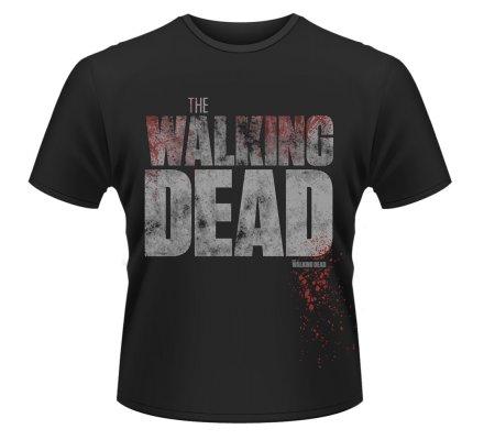 Tee-Shirt Noir Splatter The Walking Dead